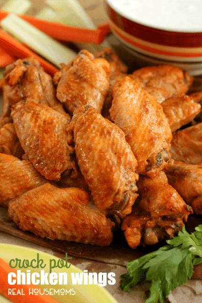 Crock Pot Chicken Wings Recipe ⋆ Real Housemoms