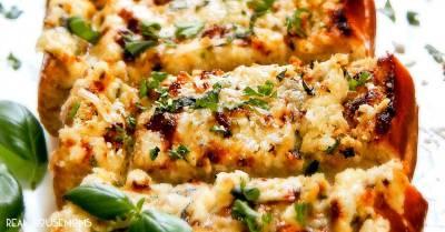 Ricotta Parmesan Garlic Bread ⋆ Real Housemoms