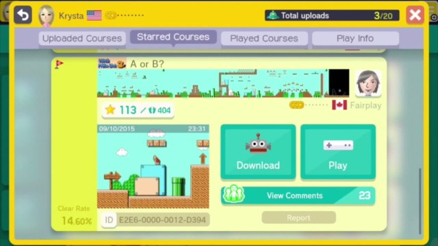 super mario maker custom courese