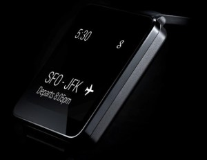 "LG's recently announced ""G-Watch"""