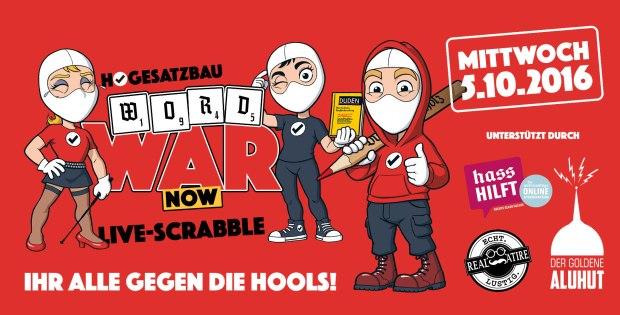 HoGeSatzbau WordWar Now Live-Scrabble Ihr alle gegen die Hools 5. Oktober 2016