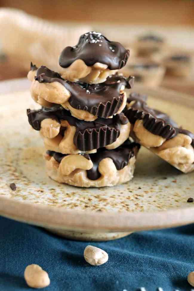 Salted chocolate caramel cashew clusters two