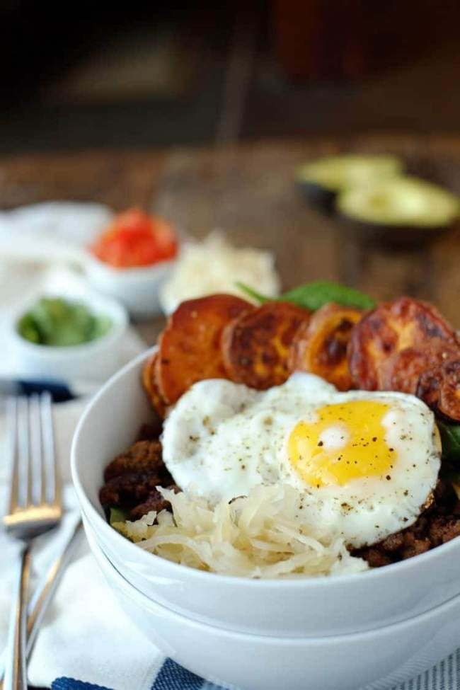 Taco breakfast bowl