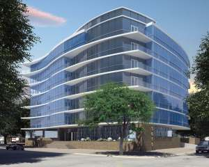 Rendering of proposed 3615 Montrose condo building in Houston.