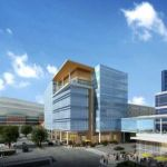 Rendering of Greater Houston Partnership Building designed by WHR Architects.