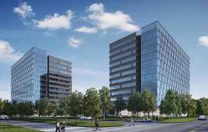 Rendering of West Memorial Place office project in Houston.