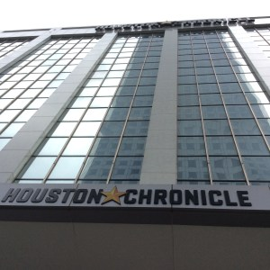 The Houston Chronicle building at 801 Texas Avenue is for sale. Photo by Ralph Bivins.