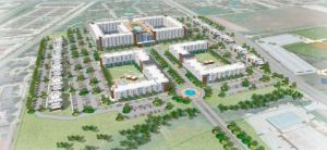Rendering of Park West at Texas A&M - the largest student housing project in the nation.
