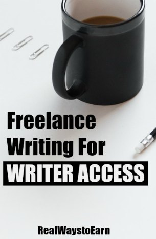 Writer Access review - get paid to write articles online for Writer Access' clients.