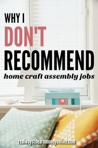 All the reasons why I don't recommend home craft assembly jobs.