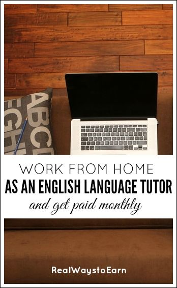 Work from home as an English language tutor and enjoy a flexible schedule and reliable monthly pay.