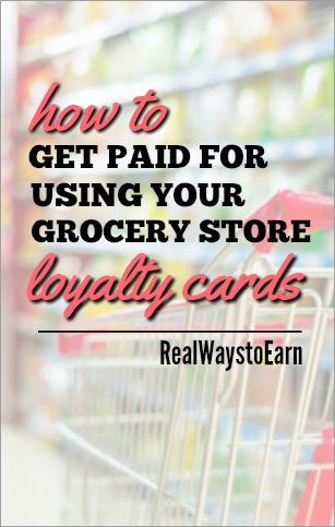 Did you know there is a way to use your grocery store loyalty card and get paid for it?