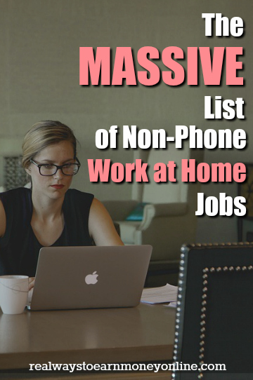 Looking for a work at home non-phone job? Here is a MASSIVE list of over 100 companies that regularly hire for work at home and never make you use your phone.
