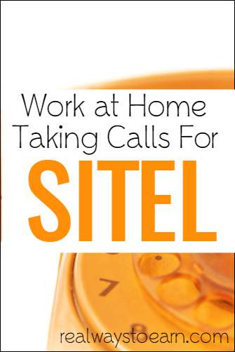 Work at home jobs with Sitel.