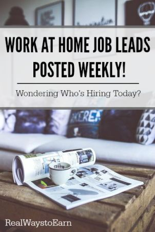 Fact: More and more companies are beginning to allow their workers to telecommute. At Real Ways to Earn, new work at home job leads are posted every week so you can find out which companies are most recently hiring.