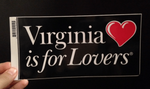 Virginia is for lovers bumper sticker