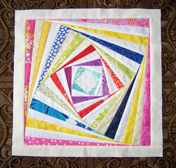 log cabin twist quilt block tutorial pattern