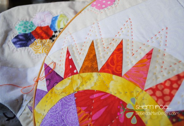 hand quilt with perle cotton
