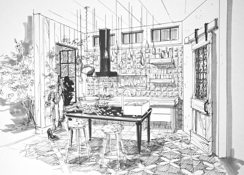 DXV_Kitchen-sketch