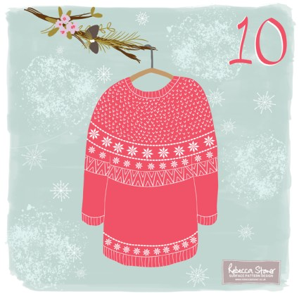 Day 10 - Christmas Jumper by Rebeccca Stoner www.rebeccastoner.co.uk