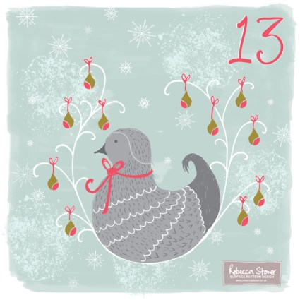 Day 13 - Partridge and a Pear Tree by Rebecca Stoner www.rebeccastoner.co.uk
