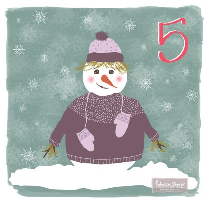 Christmas Advent Challenge - Day 5 - Snow Creature by Rebecca Stoner www.rebeccastoner.co.uk