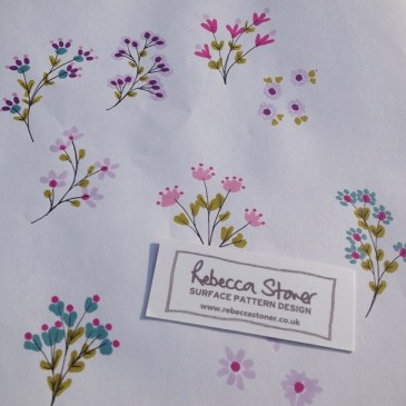 Ditsy Florals by Rebecca Stoner www.rebeccastoner.co.uk