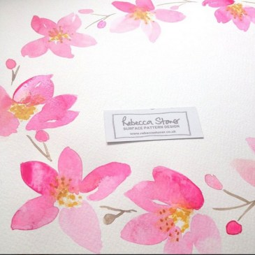 Spring Blossom watercolour by Rebecca Stoner www.rebeccastoner.co.uk