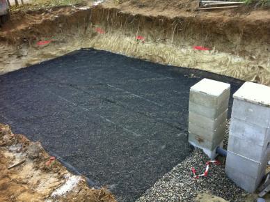 Réalisation filtre à sable drainé