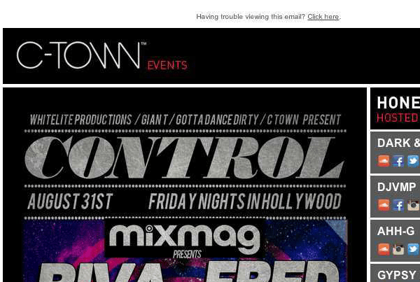 CTOWN Events Email Development