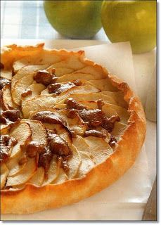 Tarta de manzanas verdes