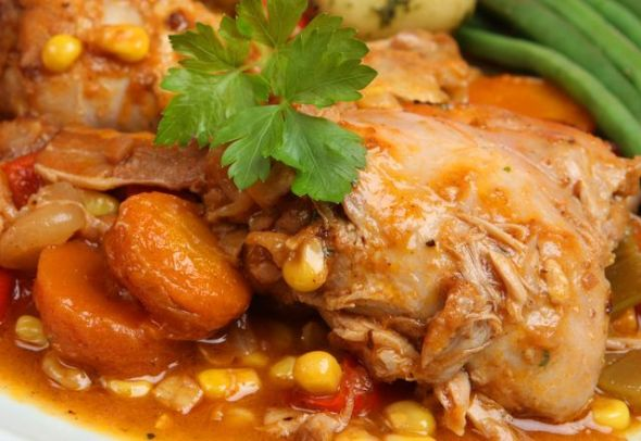 Chicken Stewed with Vegetables
