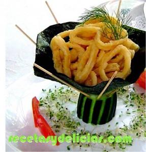 receta de aros de calamares empanizados