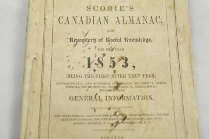 Scobie's Canadian Almanac, and repository of useful knowledge, for the year 1853
