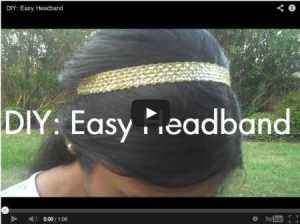 how to make a cute elastic headband