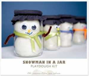 snowman playdough kit