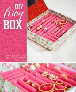 diy ring box collage