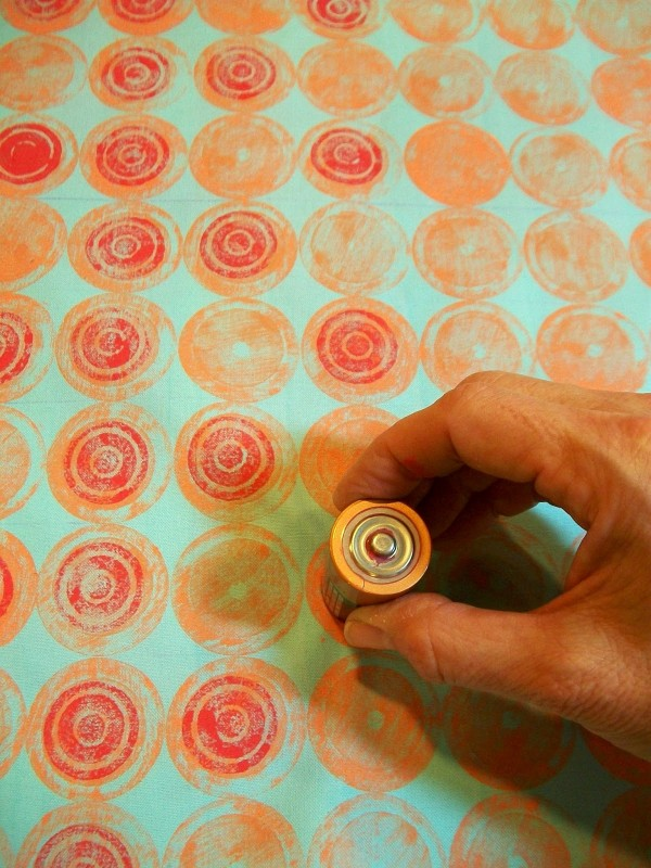 how to print fabric with battery prints