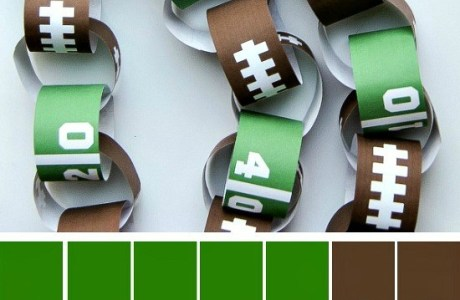 How to make a football paper chain