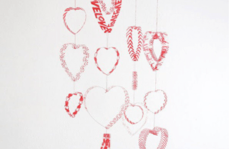 How to make a recycled plastic bottle heart mobile