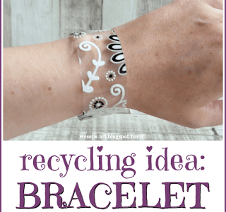 How to make an embossed recycled plastic bracelet