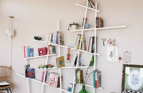 Great funky shelf idea