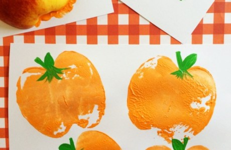How to make pumpkin prints with apples