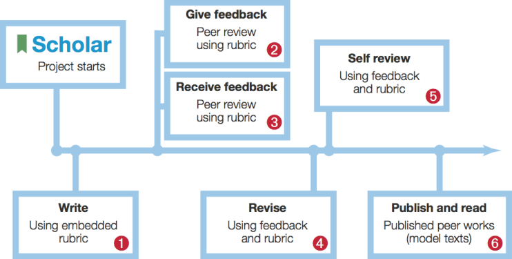 Scholar process: write-review-revise