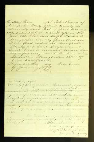1879 Jackson Doyle application land