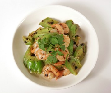 Stir-fried Bitter Melon and Shrimp with Fermented Black Beans