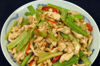 Stir-fry Chicken with Chinese Celery