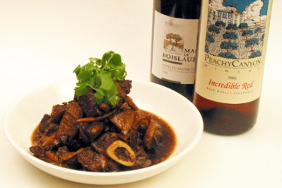 Red Cooked Lamb and Red Wine