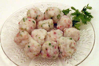 Ham and Scallion Fish Balls