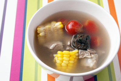 Haw and Pork Ribs Soup
